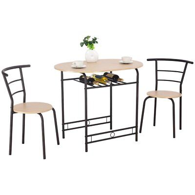 3 PCS Dining Table Set w/1 Table and 2 Chairs Home Restaurant Breakfast Bistro P