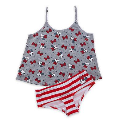 Disney Store Minnie Mouse Cami & Brief Pajamas Set Women Size XS XL - Pjs Store
