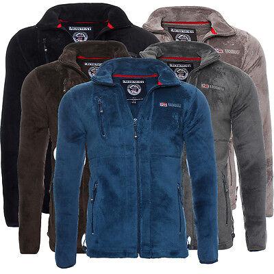 Geographical Norway United Herren Fleece Jacke Hoodie Sweatjacke Sweater NEU Hoodie Fleece Jacke