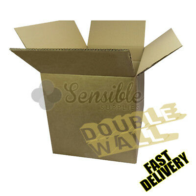 5 X STRONG DOUBLE WALL MOVING SHIPPING POSTAL CARDBOARD BOXES 18X12X12