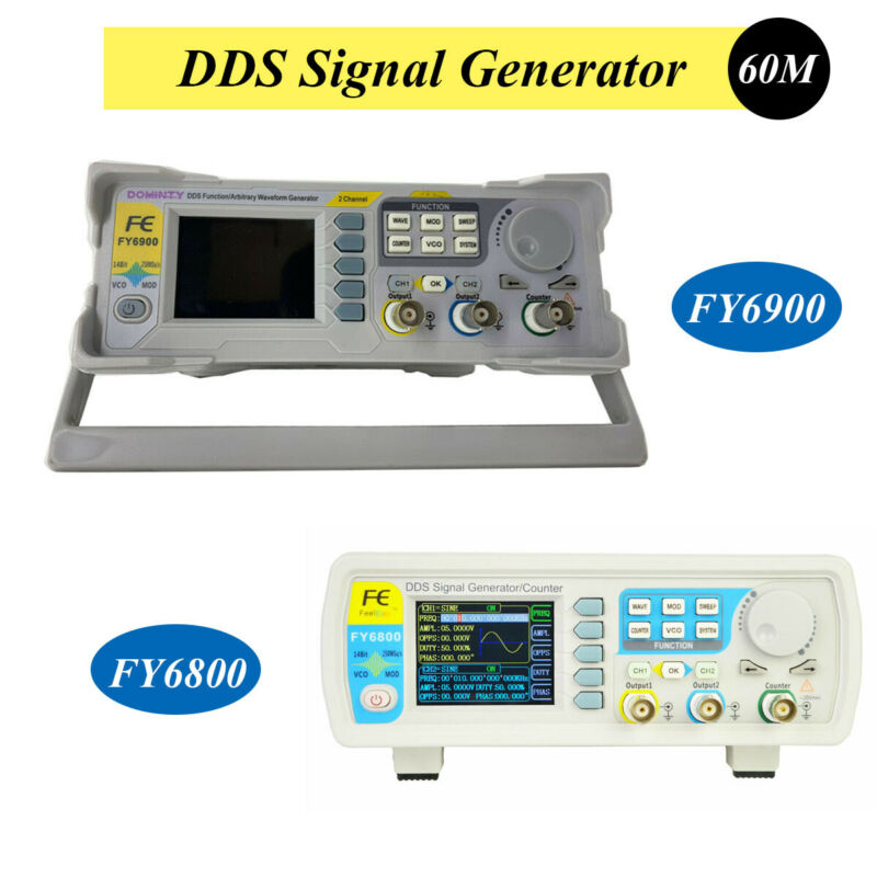 DDS Signal Function Frequency Sine Wave Generator 0.01-100MHz FY6900 FY6800 60M