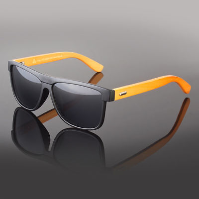 New Bamboo Sunglasses Wooden Wood Men Retro Vintage Polarized Glasses (Bamboo Sunglasses)