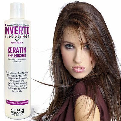 Inverto Keratin Hair Replenisher Serum Smooths Hair No Frizz Repairs Hair USA