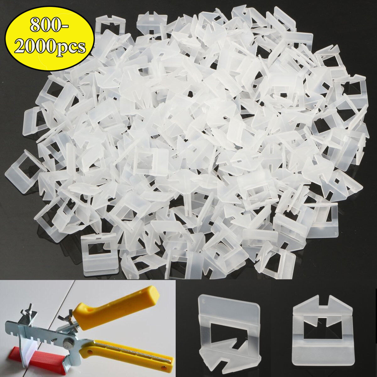 400PCS 2mm Tile Leveling Spacer Wall Flooring Levelling