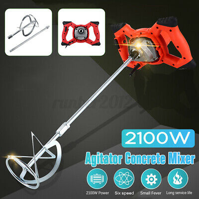 2100w Industrial Electric Concrete Cement Mixer Thinset Grout Mud Mixing Mortar