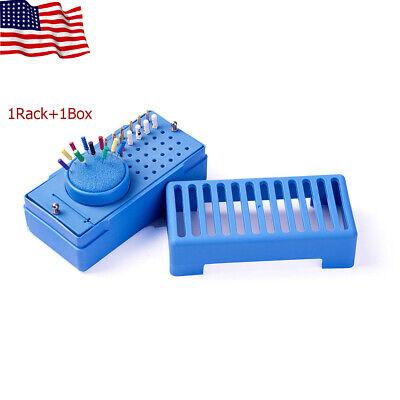Easyinsmile Dental Endo File Bur Organizer Holder Rack Box Sponge Autoclavable