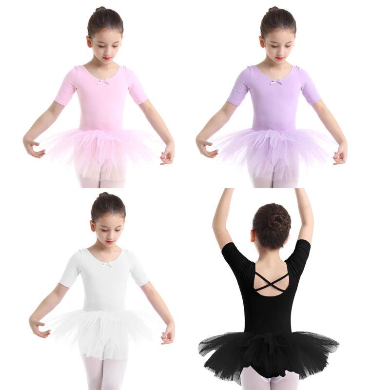 WHITE Toddler /& Girls Classic Ballet Dance Leotard Skirt