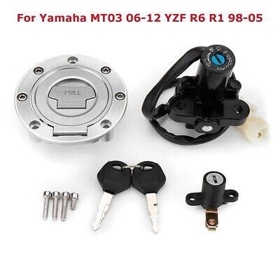 IGNITION SWITCH LOCK FUEL GAS CAP KEY KIT FOR <em>YAMAHA</em> MT03 YZF XJ6 R6 R