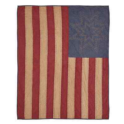 CHEYENNE AMERICAN FLAG QUILTED THROW BLANKET 50X60