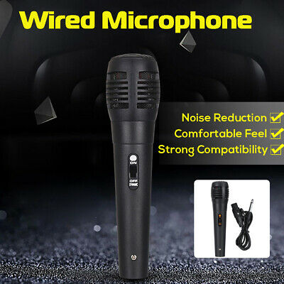 Wired Dynamic Microphone Handheld Mic For Karaoke Singing BK DJ Audio Vocal KTV