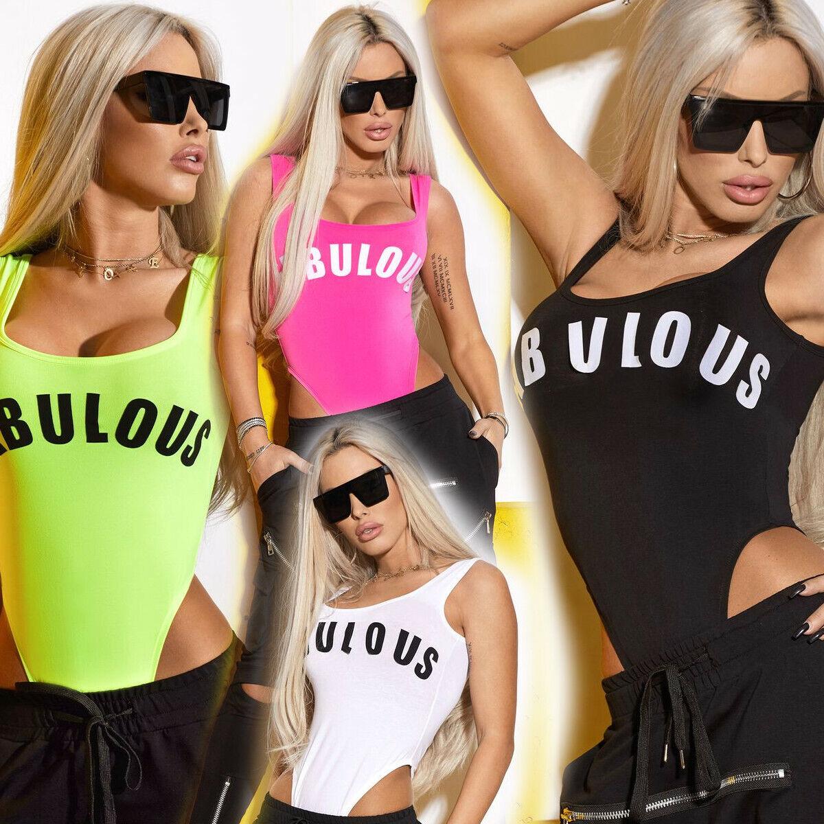 By Alina Damen Body Damenshirt Shirt Oberteil Top Damenbody 34-38  #B760