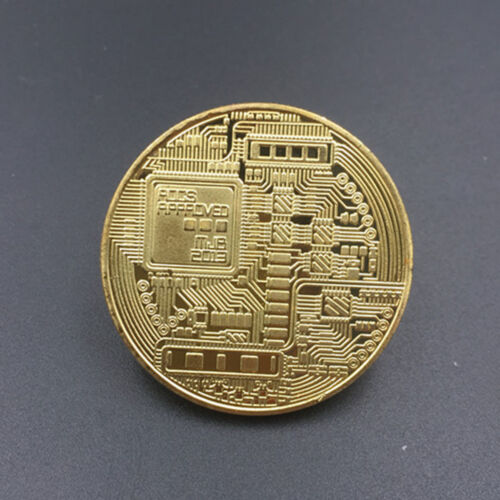 Gold Bitcoin Commemorative Round Collectors Coin Bit Coin Gold Plated Coins Yc