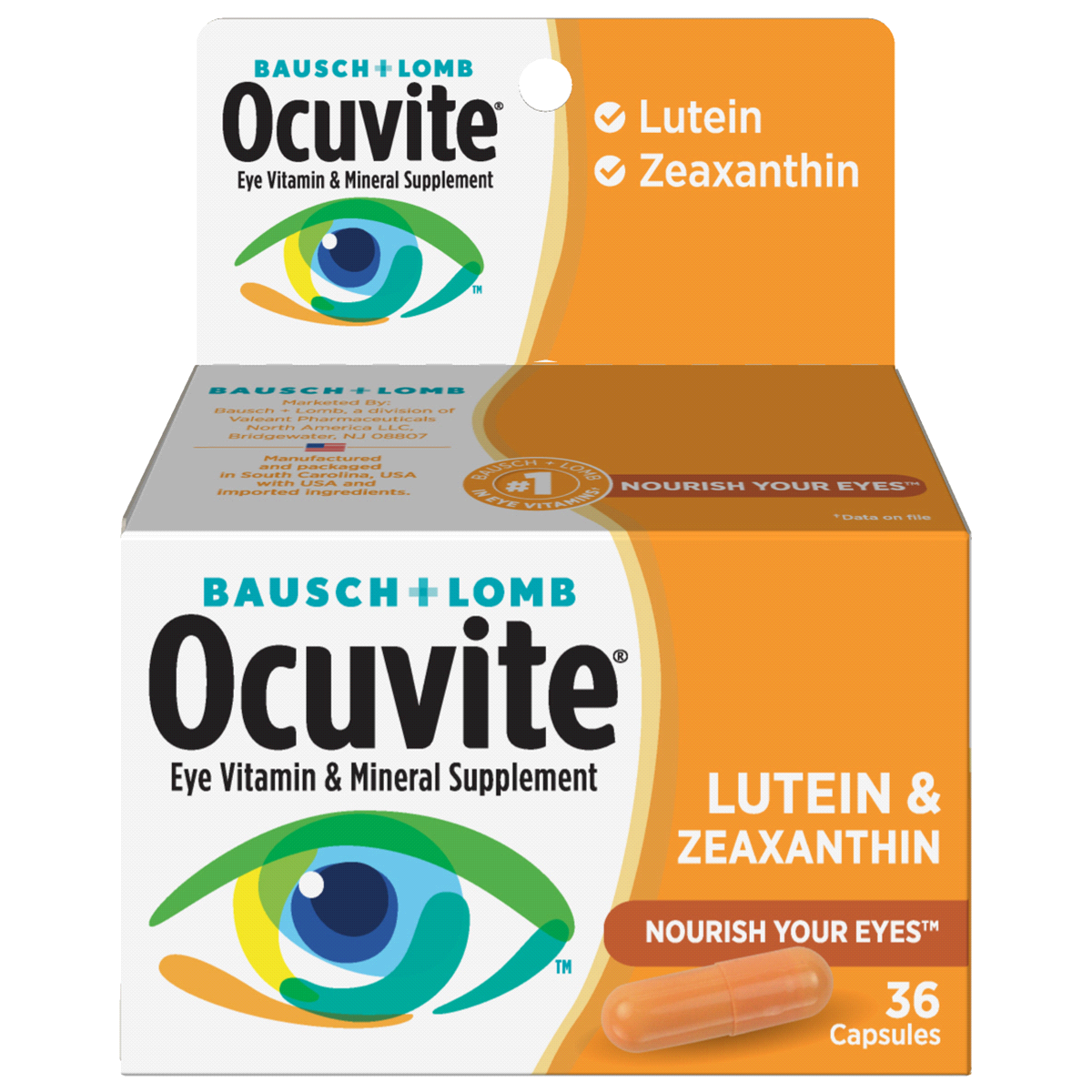 Bausch And Lomb Ocuvite Lutein Eye Vitamin And Mineral Suppl