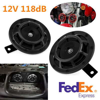 """2X 118dB 12V 4.8"""" Car Motorcycle Compact Electric Blast Tone Hella Horn US Stock for sale  Dayton"""