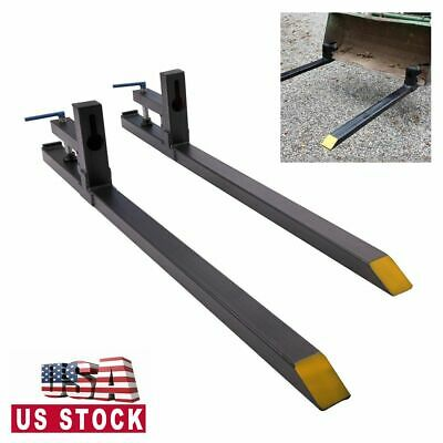1500 Lbs Capacity Clamp On Loader Buck Pallet Forks Loader Bucket Tractor 42 Lw