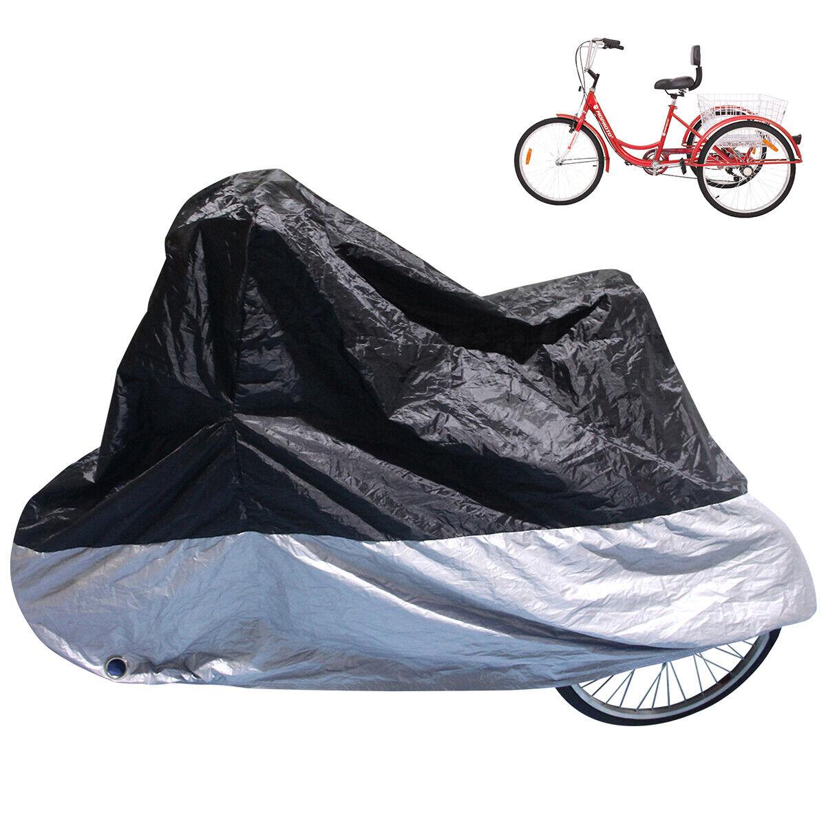 Heavy Duty Waterproof Bike Adult Tricycle Bicycle/Motorcycle