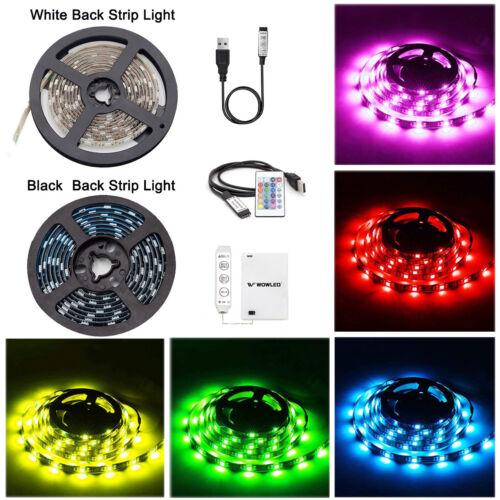 5050 RGB LED Strip Light Decor USB / Battery Box TV PC Back