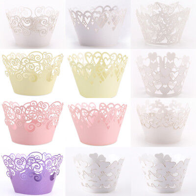 Paper Cupcake Baking Cups (50pcs Cupcake Wrapper Paper Cake Liner Muffin Baking Cups Weeding Party)