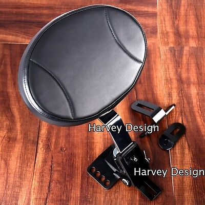 Adjustable Plug-In Driver Rider Backrest Kit For Harley Touring FLTR FLHT 97-18