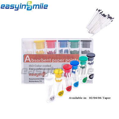 Easyinsmile 1box Dental Endo Absorbent Paper Points 020406 Taper For Dentistry