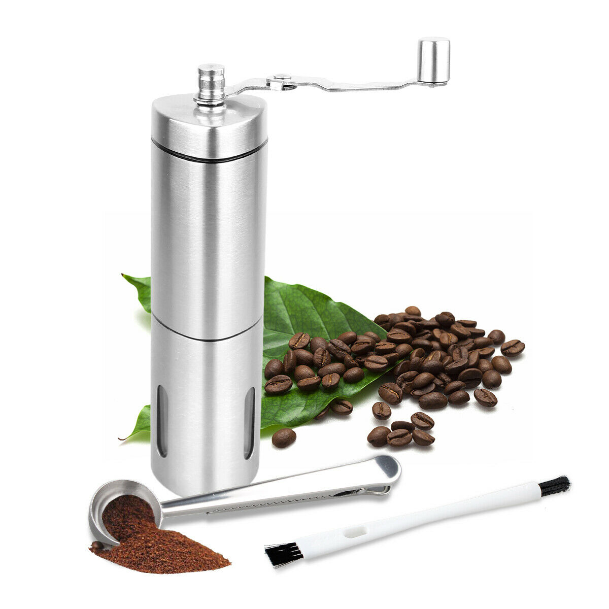 Stainless Steel Manual Coffee Grinder Portable Conical Hand