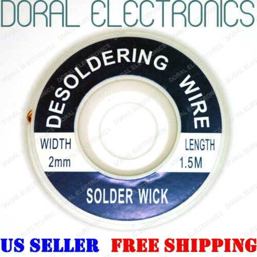 1 PCS 5ft 2.0mm Desoldering Braid Solder Remover Sucker Flux Wick Cable Wire