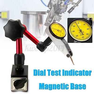 Us Daniu Precision Dial Indicator Gauge Test Flexible Magnetic Base Holder Stand