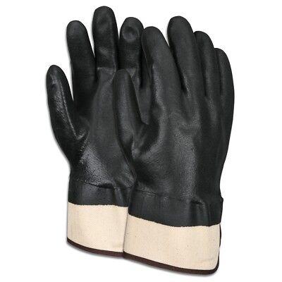 1 Dozen Memphis Industry Standard Double Dipped Pvc Work Gloves Large