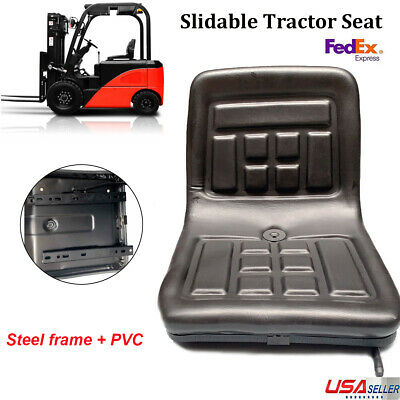 New Lawn & Garden Slidable Black Tractor Seat Riding Mower Fits Most Brands (Black Tractor)