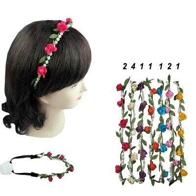 12pcs Boho Halo Flower Bridal Headband Hairband Crown Garland Wedding Party USA