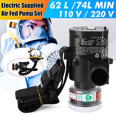 5000 Electric Constant Flow Supplied Air Pump Fed Respirator System Full Face