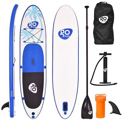 Goplus 11' Inflatable Stand Up Paddle Board SUP Fin Adjustable Paddle Backpack](goplus inflatable paddle board)