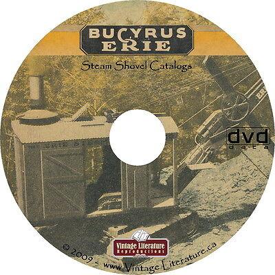 Bucyrus-erie Shovel Crane 3 Catalogs On Dvd