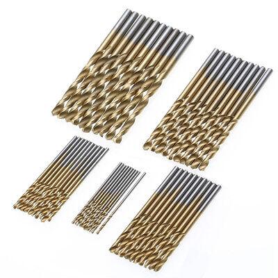 50Pcs HSS Cobalt Twist Drill Bits HSS-Co For Hard Metal Stainless Steel 1mm-3mm (3 Stainless Steel Bit)