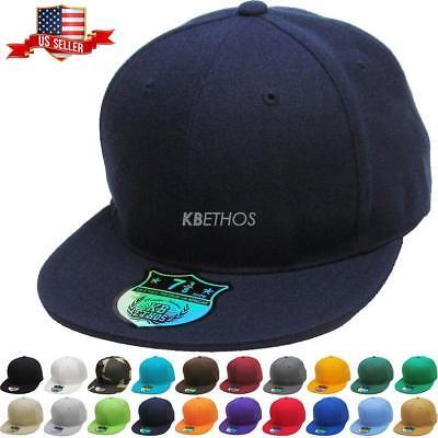995126ec9 Premium Solid Fitted Cap Baseball Cap Hat