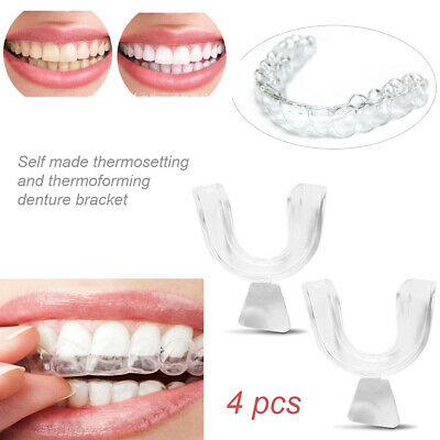 4X Teeth Whitening Mouth Trays Gum Shield Guard Reusable