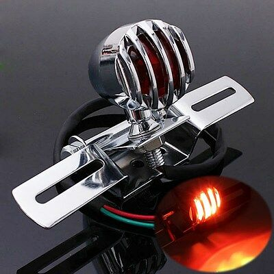 NEW CHROME MOTORCYCLE BRAKE STOP REAR TAIL LIGHT TAILLIGHT INDICATOR S