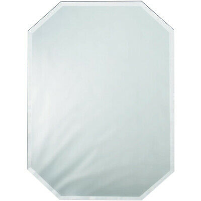Darice Octagon Glass Mirror Placemat With Bevel Edge 12 X 18