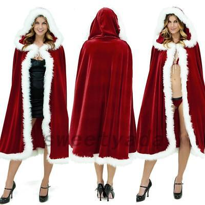 Santa Claus Cape (Celebrate Christmas Mrs Santa Claus Cloak Xmas Costume Cappa Cape Happy New)