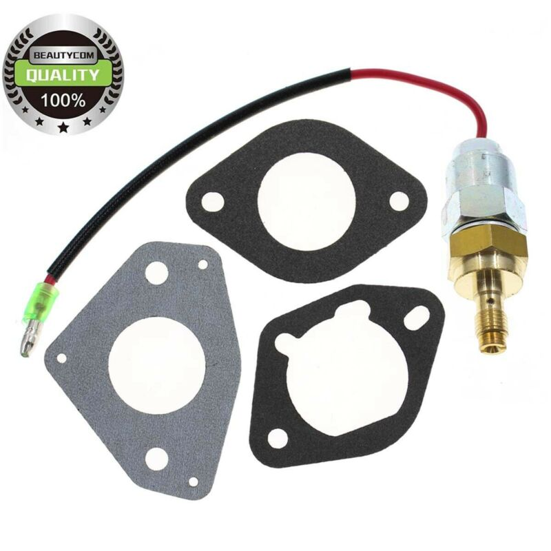 Fuel Solenoid 24 757 45-S & Gaskets for many Kohler Command Courage 23HP Engines