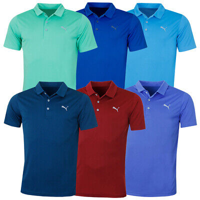 Puma Golf Mens Rotation Solid DryCell Breathable Mesh Polo Shirt 46% OFF RRP
