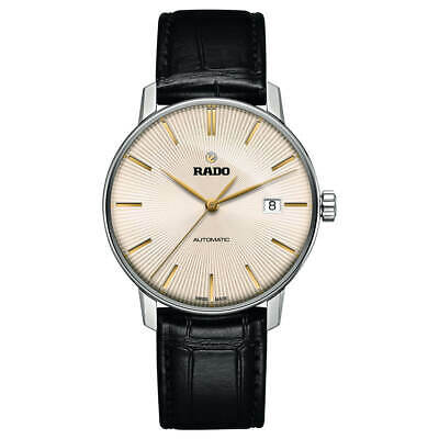 Rado Men's Watch Coupole Classic Automatic Beige Dial, Leather Strap R22860105