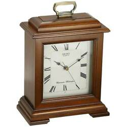 Seiko QXJ102BC Cherry Carriage Chiming Mantel Wooden Clock