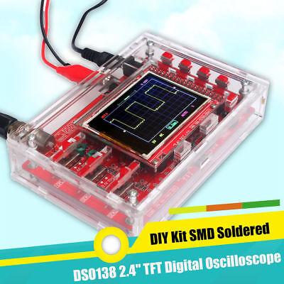 12bit Diy Digital Oscilloscope Kit Electronic Learning Kit Dso138 2.4 1msps Arm