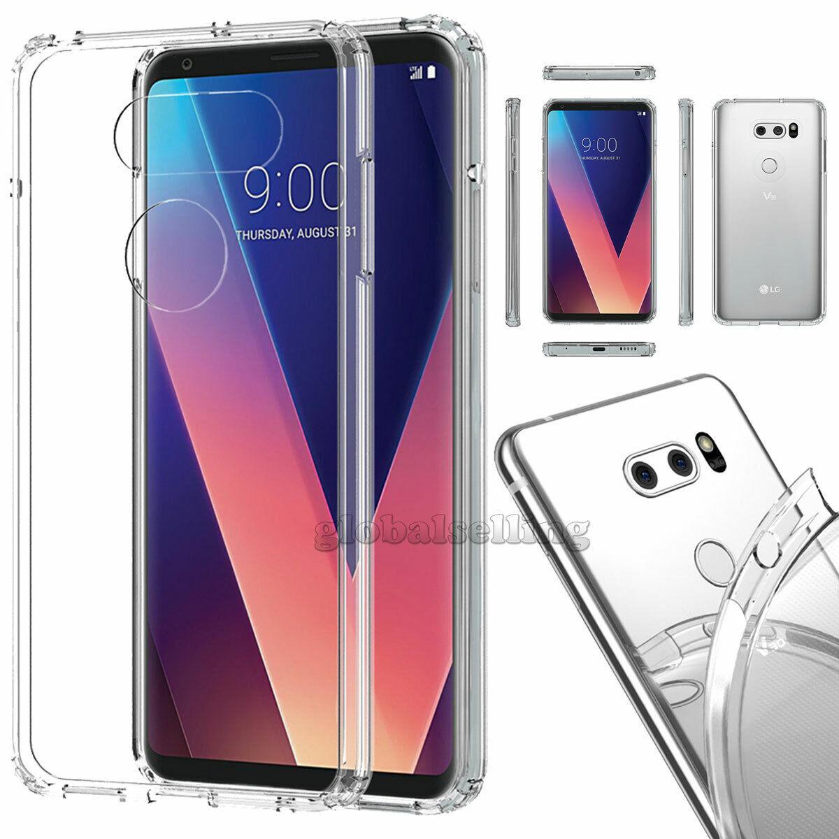 For LG V30 V40 ThinQ Phone Shockproof Slim Hard Protective C