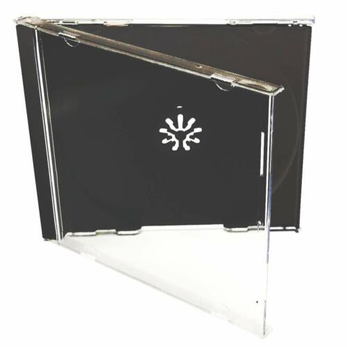 Standard CD Jewel Case - Black - Assembled - Premium , 50 Pack