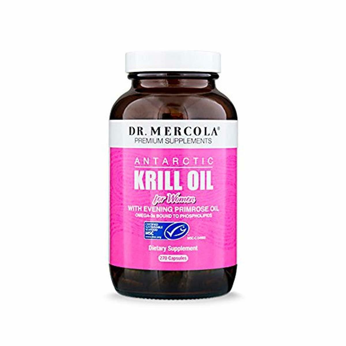 Dr. Mercola Antarctic Krill Oil for Women - 270 Capsules - W