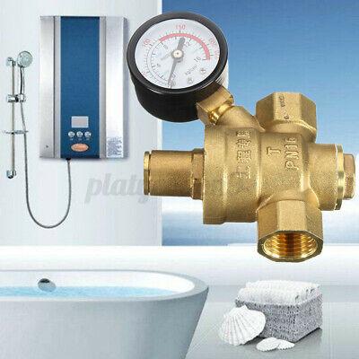 Dn15 Npt 12 Adjustable Brass Water Pressure Regulator Reducer W Gauge Usa