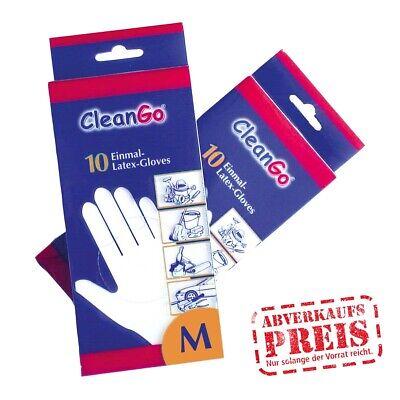 14697 Latex-Einmalhandschuh 10 Stück Einweghandschuh CleanGo Hygiene Schutz Gr M