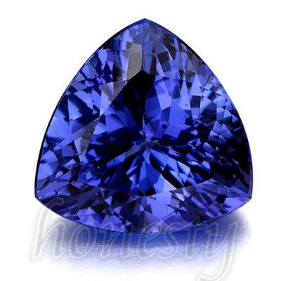 Beautiful Blue Tanzanite AAA 10mm Stunning Trillion Cut Loose Gemstone 6.20ct